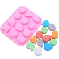 12 Cavity Silicone Break-Apart Chocolate, Protein and Energy Bar Mold