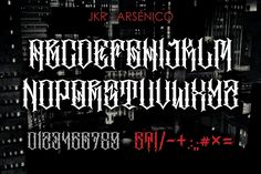 Ad: ARSÉNICO by jakejarkor on Jake Jarkor Presents: ARSÉNICO is a typeface inspired in tattoo letters, chicano culture and street art. It works well with normal size Tattoo Lettering Styles, Chicano Lettering, Graffiti Lettering Fonts, Tattoo Script, Graffiti Alphabet, Lettering Design, Typography, Calligraphy Fonts Alphabet, Tattoo Fonts Alphabet
