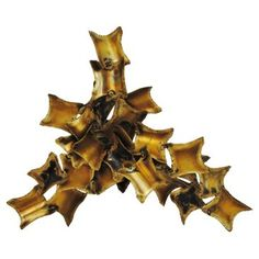Check out this item at One Kings Lane! Sculptural Brass Sconce