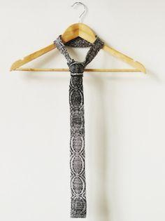 Gebreide katoenen stropdas ELEMENTS  rock van stitchings by m