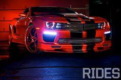 Sick RED  Widebody Camaro T Tops, w/black & red Forgiato wheels...