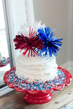 Check out all the patriotic details from this Red, White & TWO themed birthday celebration by Sweetwood Creative Co. 4th Of July Cake, Fourth Of July Decor, 4th Of July Desserts, 4th Of July Celebration, 4th Of July Decorations, 4th Of July Party, Birthday Celebration, July Birthday, Birthday Parties
