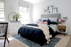 5 Fantastic Blush, Blue, and Gray Spaces - The Accent™