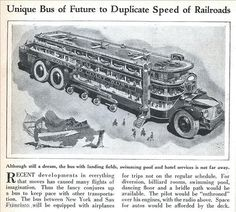 Retro-Futurism: Ultra-Crazy Bus of the Future | With airplan… | Flickr