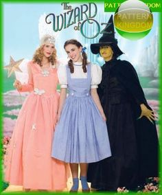 Simplicity 4136 Wizard of OZ Wicked Witch/Dorothy/Glenda Patterns