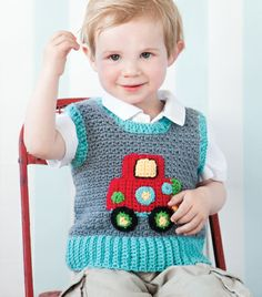 Clown Car Vest | crochet today