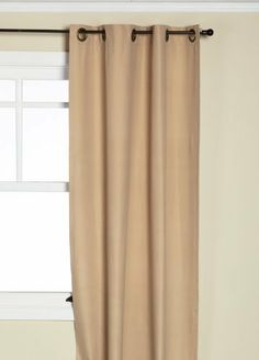 Eclipse Microfiber Grommet Blackout Window Panel, 42-Inch By 63-Inch, Beige by Eclipse. $26.96. Panels sold individually. Assorted colors and sizes. Machine wash. Energy saving. 100% Polyester. Noise reducing. Experience the darkness, silence, and beauty of Eclipse curtains. Eclipse ultra-fashionable blackout panels have been laboratory-tested to block over 99-percent of outside light and reduce unwanted noise for a better night's sleep. The patented Thermaback technolo...