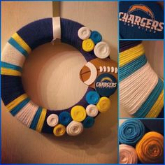 San Diego Chargers Wreath! I need this!!!!!!