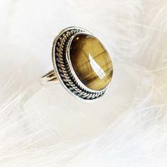 Clara - Tiger's Eye & Sterling Silver Ring – Druzy Dreams