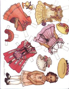 august paoer doll Vintage Paper Dolls, Paper Doll House, Paper Houses, Paper Dolls Clothing, Black Paper, Childhood Toys, Kewpie, Paper Piecing, Doll Accessories