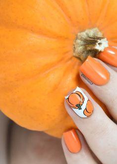 Nailstorming - Gourmandise d'Automne - pumpkin nails