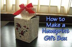 How to Make a Newsprint Gift Box ~TheHomesteadingHippy #homesteadhippy #fromthefarm #lesstrash #diy