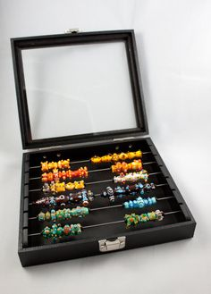 Display  storage bead box tray for Lampwork and by eskiebeads, $28.00