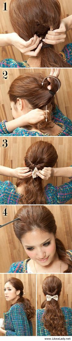 Tie a beautiful ponytail