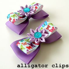 Girl hair accessories. Girl hair bows. Bow clips for by JuLVa