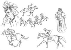 #Croquis #Illustrations #BD #Prissurlevif #Hippodrome