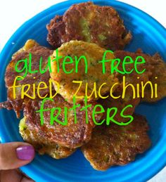 Gluten free and dairy free zucchini fritters; can be done with pickles too. Use DF sour cream.