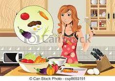 نتيجة بحث الصور عن girl cooking clipart