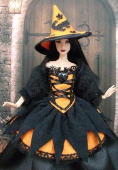 """Robe """" Halloween N°2 """" vêtement pour poupée Barbie f3788"""