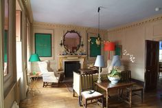 Marianna Kennedy Lamps, Mirrors, Painted Signs, and Side Table, Candles as well!