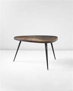 Free-form coffee table, Manufactured by Les Atelier Jean Prouvé, France and editioned by Steph Simon, France., Designed by Charlotte Perriand and Jean Prouvé, c.1955