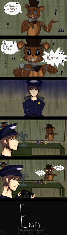 Hiiii!!!! Wohoooo! A New FNAF Comic Strip!!! Yesh~ It's based of in FNAF 3. Confused on why Phantom Freddy Jumpscares you and what he's actually doing outside that glass? Well, this Comic tel...