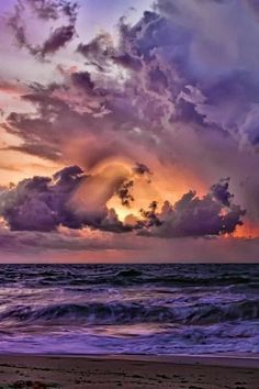 The purple sunset