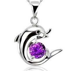 Aliexpress.com : Buy Women Sterling Silver Dolphin Pendant Necklaces & Pendants Jewelry Colgante Pingente de plata from Reliable pendant necklace suppliers on ModaOne Jewellery Store