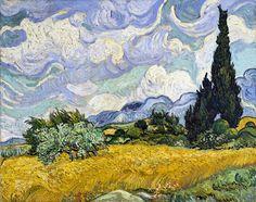 Vincent van Gogh, Wheat Field with Cypresses, 1889 on ArtStack #vincent-van-gogh #art