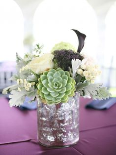 Summer wedding centerpieces with succelents