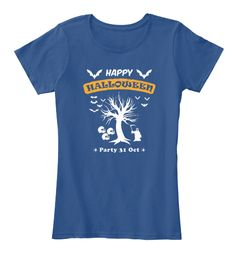 Happy Halloween Party 31 Oct Royal T-Shirt Front