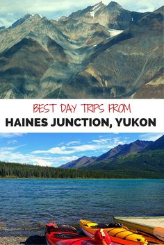 Ideas for incredible day trips from Haines Junction, Yukon, including glacier flights, white water rafting and spectacular Kluane Lake. Beautiful Places To Visit, Cool Places To Visit, Yukon Canada, Yukon Alaska, Alaska Travel, Alaska Trip, Alaska Highway, Canadian Travel, Canadian Rockies