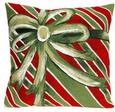 Visions III Gift Box 20-Inch Square Indoor/Outdoor Throw Pillow in Green