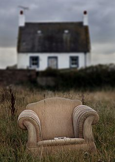 White cottage, chair