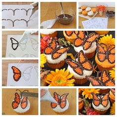 DIY Chocolate Butterfly Decorations - http://cakesmania.net/diy-chocolate-butterfly-decorations/