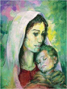 لوحة أمومة للفنان الفلسطيني إسماعيل شموط.