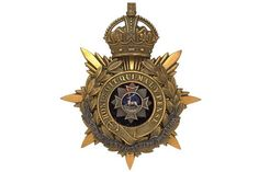 Badge. Hertfordshire Battalion, Bedfordshire Regiment Officer's helmet plate circa 1908-09. A fin
