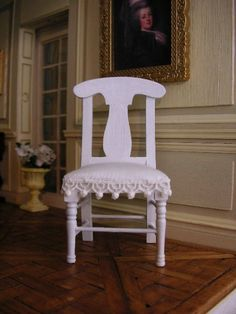 1:12 scale miniature, Gustavian style chair, Dollhouse, Furniture, Furniture, Living room, Dining room, Boudoir