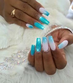 """Turnt up Turquoise"" Using @kiaraskynails and @naillabousa #sc14 #bossnails#slayed#custom#fierce#nailedit#bossnails#wakeupandmakeup#fakeupfix#customtnails#sweetbeat#swag#la#lanailartist#boom"
