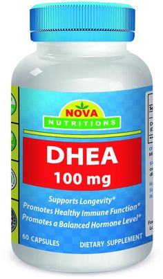 DHEA 100 mg 60 Capsules by Nova Nutritions