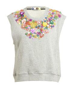 MSGM | Embellished Sweatshirt Tank Top