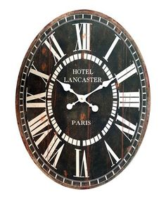 Look at this #zulilyfind! Oval Wall Clock #zulilyfinds