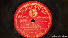 PIZARRA !! IMPERIO ARGENTINA. SILENCIO / EL MENTIR DE TUS OJOS / PARLOPHON - 25 CM.