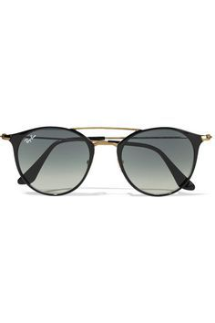 8ba7fffdf2d Ray-Ban - Round-frame acetate and gold-tone sunglasses