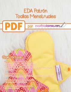 You're going to love EDA Menstrual Cloth Pads Pattern by designer Carolina Corral. Sewing Crafts, Sewing Projects, Sewing Ideas, Feminine Pads, Days For Girls, Cloth Diaper Pattern, Sanitary Napkin, Sanitary Towels, Mama Cloth