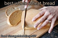 Whole Wheat bread that's just like store bought sandwich bread, but totally HEALTHY!