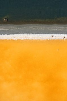 The Surreal Grandeur of San Francisco's Little-Known Salt Fields | Benton's homage to Rothko (Salt Pond E6B, September 2009).  Cris Benton  | WIRED.com
