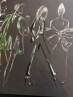 #ysl #fashion #embroidery #embroideryonpaper #style #custom #custommade #madeinfrance #madetoorder #audreydemarre #dmc Ysl, Draw, Embroidery, Photo And Video, How To Make, Inspiration, Instagram, Style, Fashion