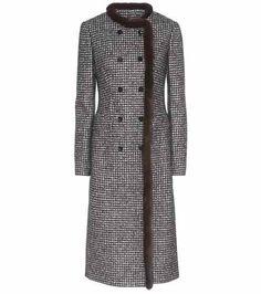 Manteau en laine mélangée à finitions en fourrure   Dolce   Gabbana  Manteaux Bleus, Manteau 85e8f2d062d