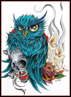 Beautiful owl skull and rose tattoo flash Owl Tattoo Design, Owl Pictures, Creative Pictures, Tattoo Project, Beautiful Owl, Tattoo Flash Art, Graphic Wallpaper, Skull Tattoos, Fish Tattoos